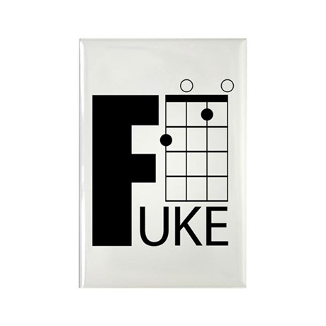 F Uke Rectangle Magnet