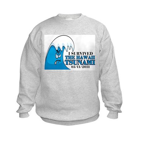 Hawaii Tsunami 2011 Kids Sweatshirt