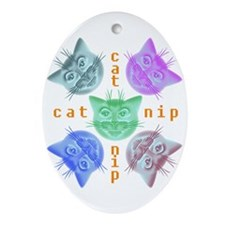 Kitty hours Ornament (Oval)