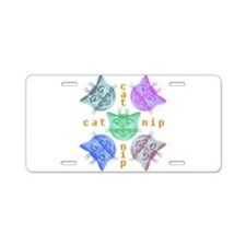Kitty hours Aluminum License Plate