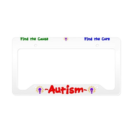 Autism Awareness License Plate Holder