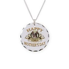 Happy Mother's Day Boston Terrier Necklace Circle