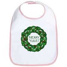 Celtic Yule Wreath Bib