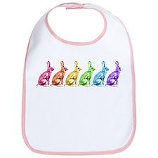 Rainbow Rabbits Bib