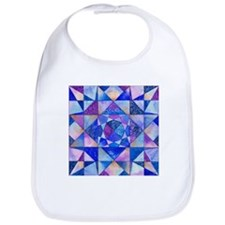 Blue Quilt Watercolor Bib