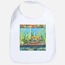 Tie Dye Turtle Watercolor Bib