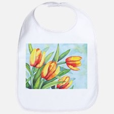 Tulips Watercolor Bib