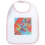 Multicolor Oak Leaf Art Bib