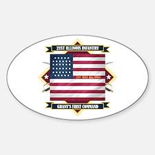 21st Illinois Infantry Sticker (Oval)