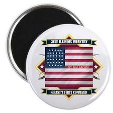 21st Illinois Infantry Magnet