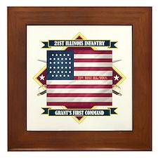 21st Illinois Infantry Framed Tile