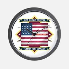 21st Illinois Infantry Wall Clock