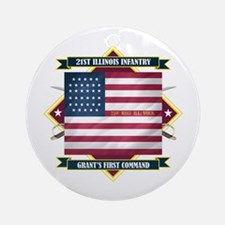 21st Illinois Infantry Ornament (Round)