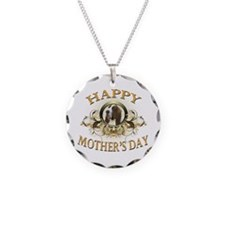 Happy Mother's Day Bassett Hound Necklace