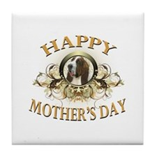 Happy Mother's Day Bassett Hound Tile Coaster