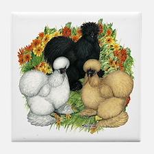 Flower Garden Silkies Tile Coaster