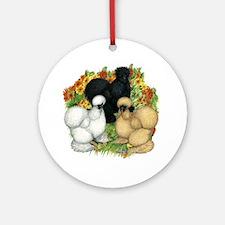 Flower Garden Silkies Ornament (Round)