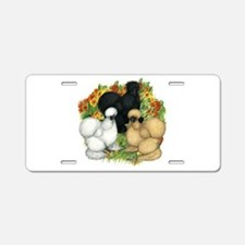 Flower Garden Silkies Aluminum License Plate