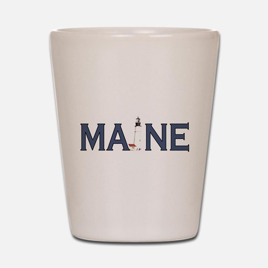 Maine Lighthouse Shot Glass