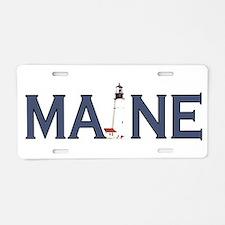 Maine Lighthouse Aluminum License Plate