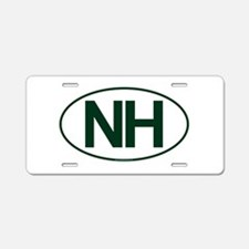 NH Oval Aluminum License Plate