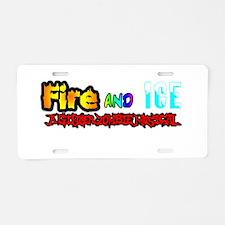 Unique Fire and ice Aluminum License Plate