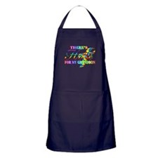 There's Hope for my Grandson Apron (dark)