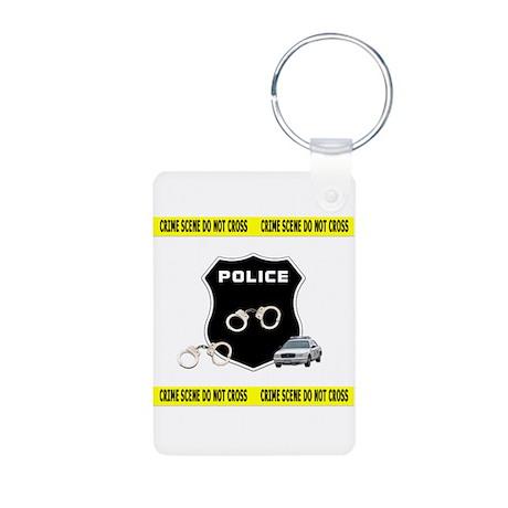 Police Crime Scene Aluminum Photo Keychain