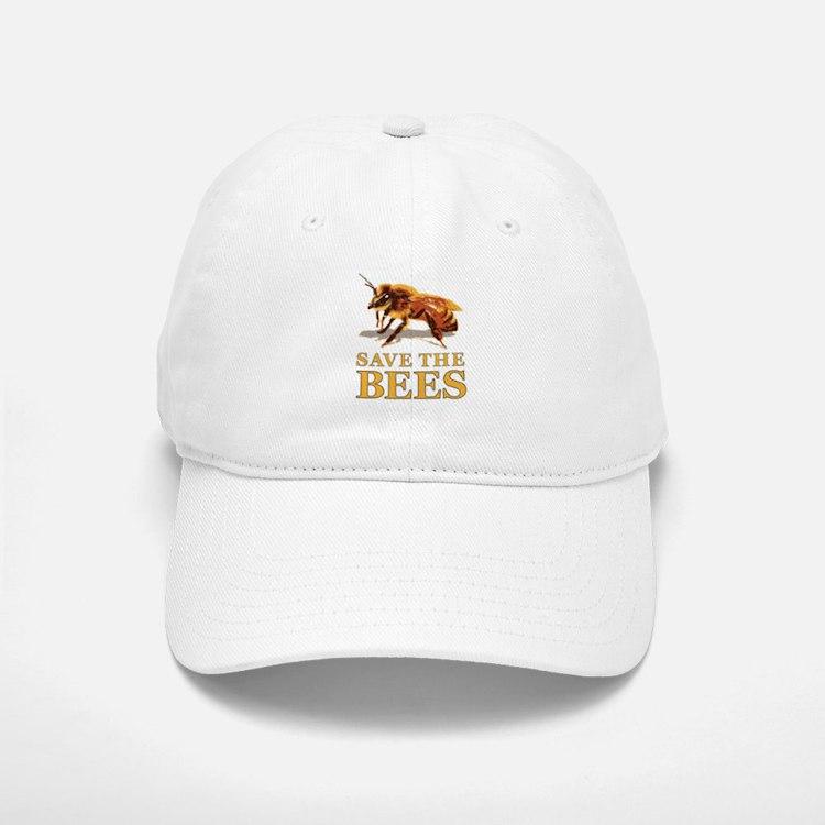 Save The Bees Baseball Baseball Cap