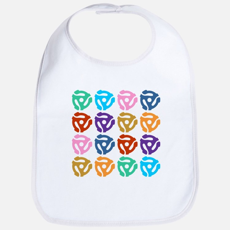 45 RPM Record Adapter Pop Art Baby Bib
