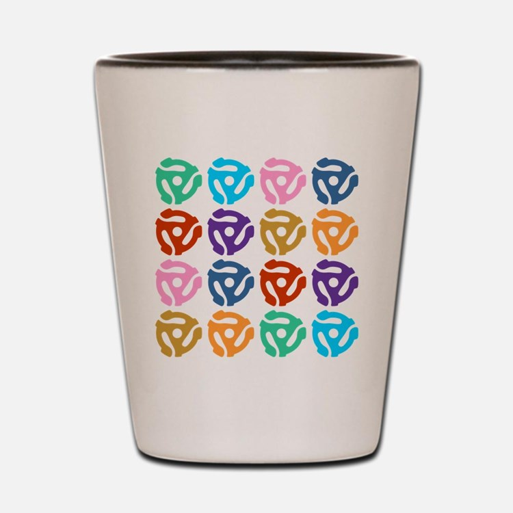 45 RPM Record Adapter Pop Art Shot Glass
