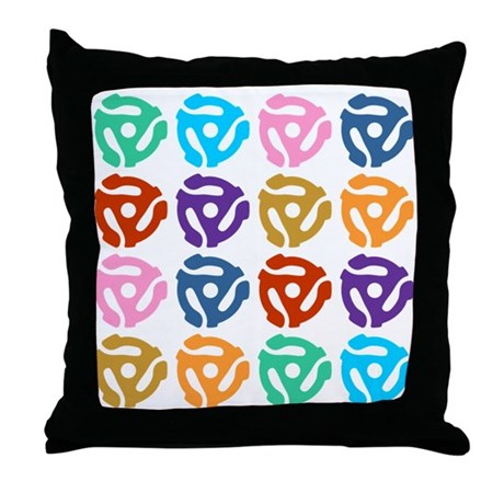 45 RPM Record Adapter Pop Art Throw Pillow