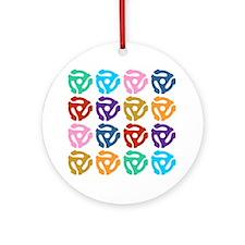 45 RPM Record Adapter Pop Art Ornament (Round)