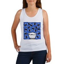 Top Bar Hive and Bees Women's Tank Top