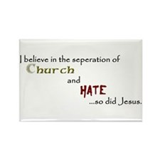 Church/Hate Rectangle Magnet (10 pack)