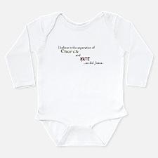Church/Hate Long Sleeve Infant Bodysuit