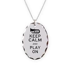 Keep Calm Tuba Necklace