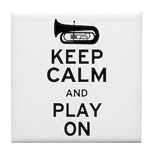 Keep Calm Tuba Tile Coaster
