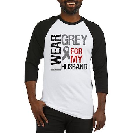 I Wear Grey Husband Baseball Jersey