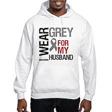 I Wear Grey Husband Hoodie