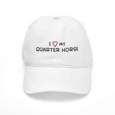 I Love Quarter Horse Baseball Cap