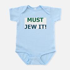 Cute Just jew it Infant Bodysuit