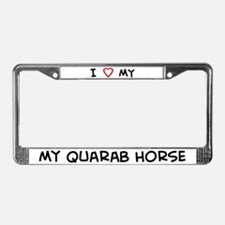 I Love Quarab Horse License Plate Frame