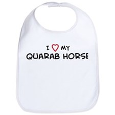 I Love Quarab Horse Bib