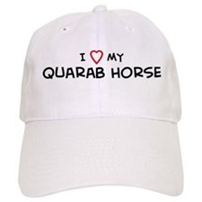 I Love Quarab Horse Baseball Cap