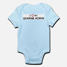 I Love Quarab Horse Infant Creeper