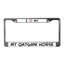 I Love Qatgani Horse License Plate Frame