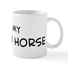 I Love Qatgani Horse Mug