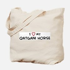 I Love Qatgani Horse Tote Bag