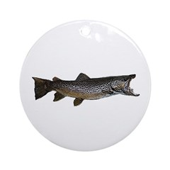 Brown trout Ornament (Round)